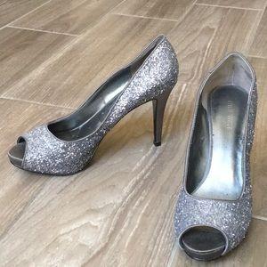 Sparkling Silver Heels